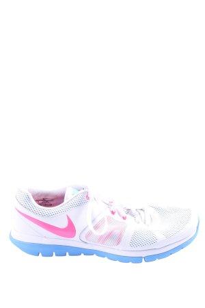 Nike Schnürsneaker weiß-pink Casual-Look