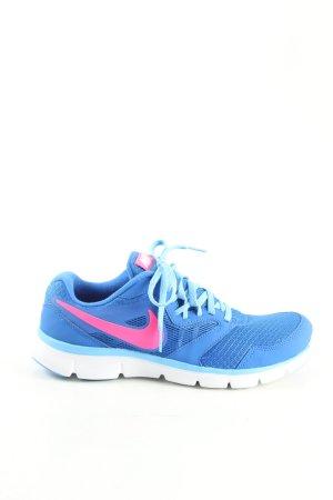 Nike Schnürsneaker blau-pink Allover-Druck Casual-Look
