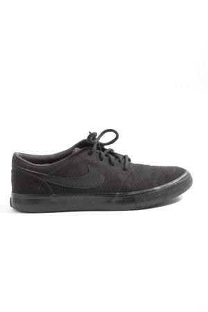 Nike Schnürsneaker schwarz Schriftzug gedruckt Casual-Look