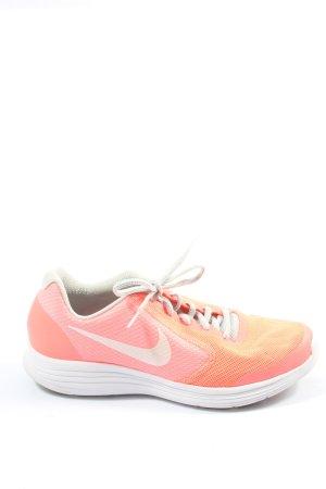 Nike Schnürsneaker pink Schriftzug gedruckt Casual-Look
