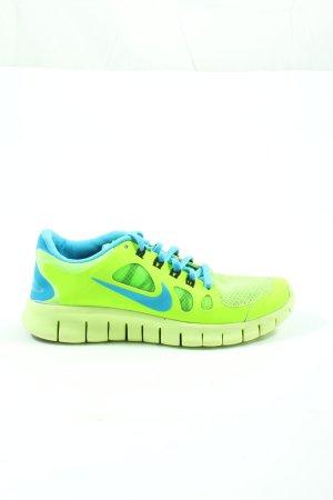 Nike Schnürsneaker grün-blau Casual-Look