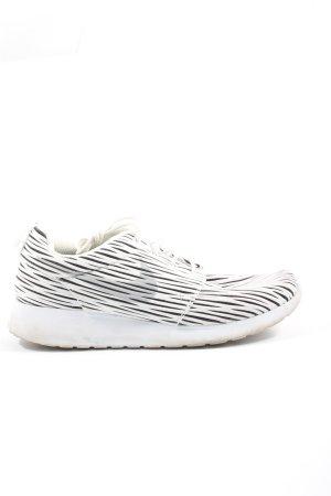 Nike Schnürsneaker weiß-schwarz Allover-Druck Casual-Look