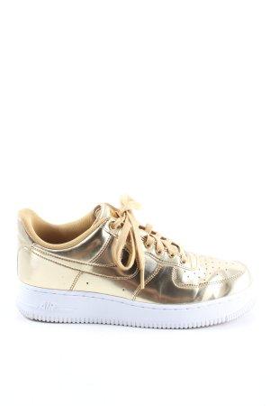 "Nike Schnürsneaker ""Air Force 1"" goldfarben"