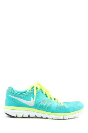 Nike Schnürsneaker türkis-grün Casual-Look