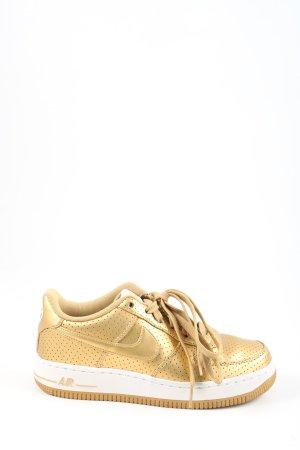Nike Schnürsneaker goldfarben Casual-Look