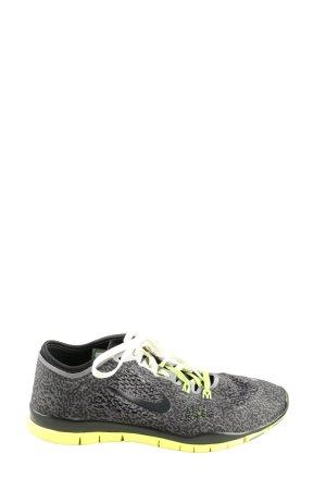 Nike Zapatilla brogue gris claro estampado repetido sobre toda la superficie