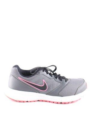 Nike Schnürsneaker hellgrau-pink Motivdruck Casual-Look