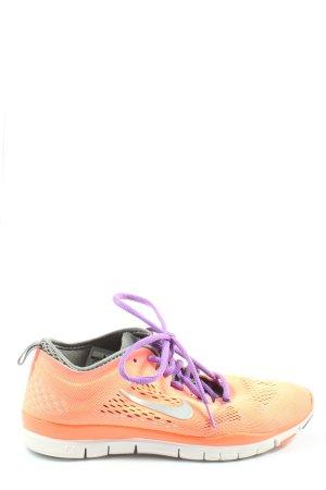 Nike Schnürsneaker hellorange-lila sportlicher Stil