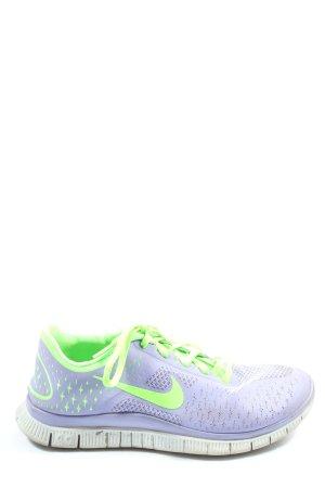Nike Schnürsneaker lila-grün Casual-Look