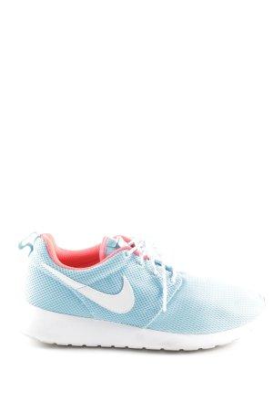 Nike Schnürsneaker neonblau-hellrot sportlicher Stil