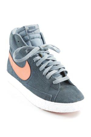 Nike Schnürsneaker petrol-orange Casual-Look