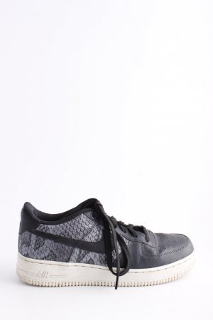Nike Lace-Up Sneaker black-light grey animal pattern casual look