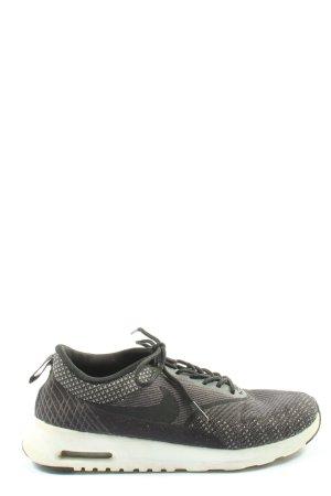 Nike Schnürsneaker schwarz-hellgrau Streifenmuster sportlicher Stil