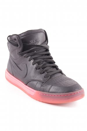 Nike Schnürsneaker schwarz-neonpink sportlicher Stil
