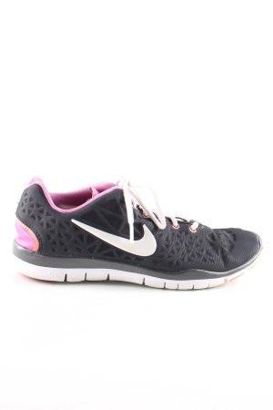 Nike Zapatilla brogue negro-rosa estilo deportivo