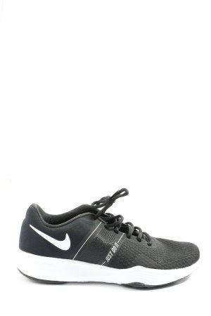 Nike Schnürsneaker schwarz-weiß Schriftzug gedruckt Casual-Look