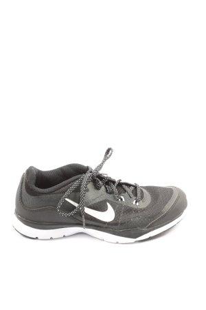 Nike Schnürsneaker schwarz-weiß sportlicher Stil