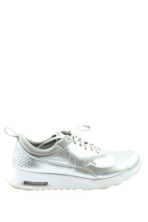 Nike Schnürsneaker silberfarben-weiß Casual-Look