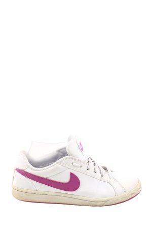 Nike Schnürsneaker weiß-pink Motivdruck Casual-Look