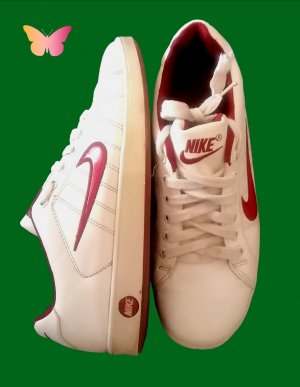 Nike High Top Sneaker white-red
