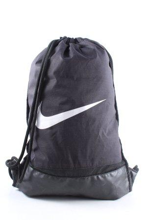 Nike Sac à dos collège noir-blanc lettrage imprimé style décontracté