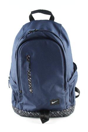 Nike Schulrucksack blau-schwarz Allover-Druck Casual-Look
