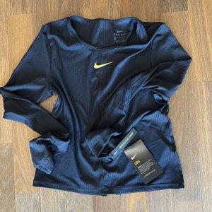 Nike Sports Shirt black-neon yellow polyamide