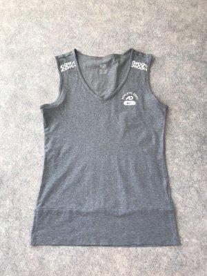 Nike Camisa de tirantes para hombres gris-blanco