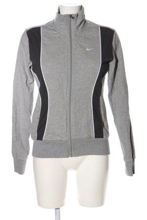 Nike Shirtjacke hellgrau-schwarz meliert Casual-Look