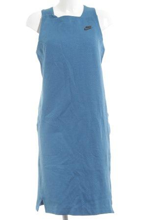 Nike Shirtkleid blau-schwarz Casual-Look