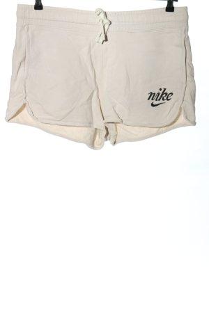 Nike Short blanc-noir imprimé avec thème style décontracté