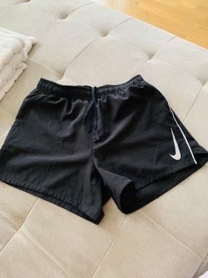 Nike Pantalón corto deportivo negro-color plata