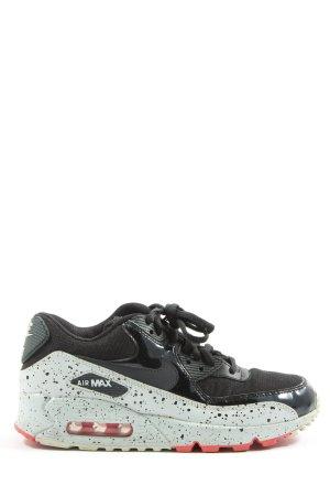 Nike Zapatos de patinador negro-turquesa estampado a lunares look casual