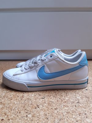 Nike Zapatilla brogue blanco-azul bebé