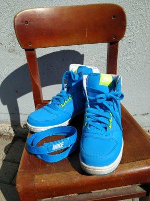 Nike High Top Sneaker neon blue