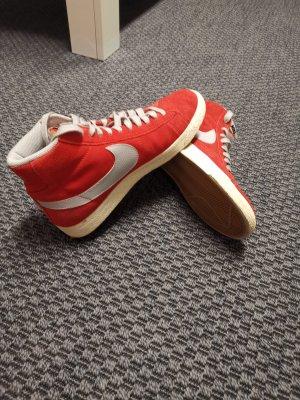 Nike Zapatillas altas gris claro-rojo