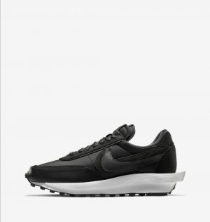 Nike sneaker Sacai Kollaboration Waffle black 44