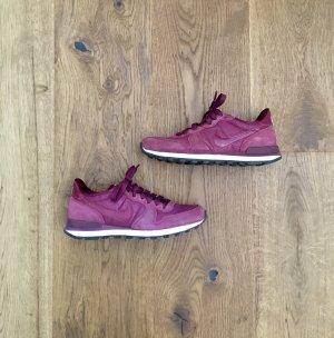 Nike Sneakers Schuhe berry Leder Original