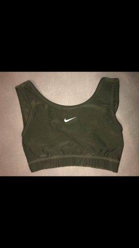Nike Soutien-gorge vert forêt-kaki