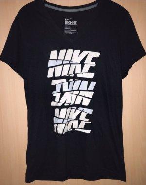 Nike Maglietta sport nero-beige chiaro