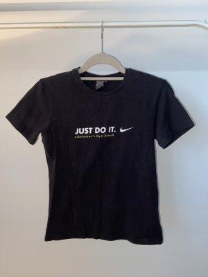 Nike Sport Shirt Just Do It Logo - Top Zustand !