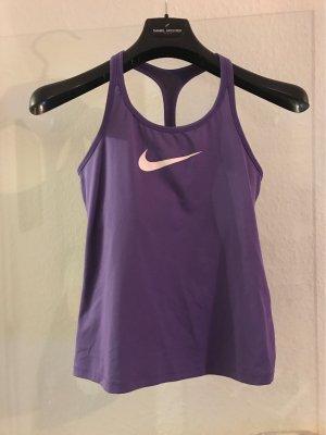 Nike Top deportivo sin mangas violeta oscuro-violeta azulado