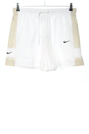 Nike Sporthose weiß-wollweiß Motivdruck Casual-Look