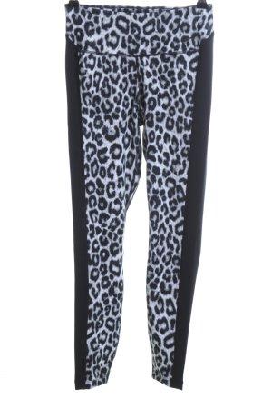 Nike Sportbroek zwart-wit luipaardprint casual uitstraling