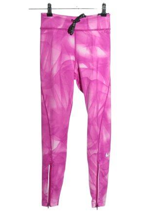 Nike Sporthose lila-pink abstraktes Muster Elegant