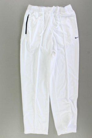 Nike Sporthose Größe 40/42 weiß aus Polyester