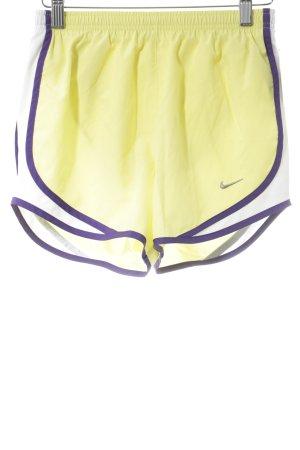 Nike Sporthose neongelb-dunkelviolett sportlicher Stil