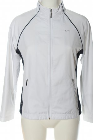 Nike Sportjacke weiß-schwarz Casual-Look