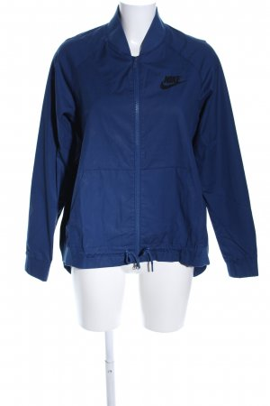 Nike Sportjacke blau Schriftzug gedruckt Casual-Look