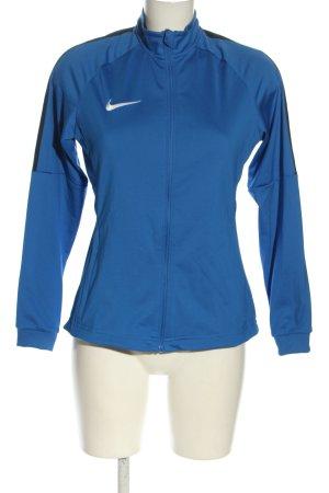 Nike Giacca sport blu caratteri stampati stile casual